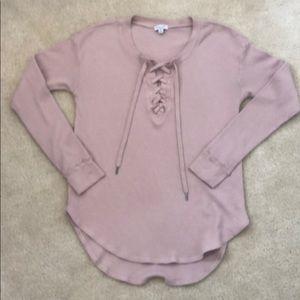 NWOTS Women's Splendid Blush long sleeve henley